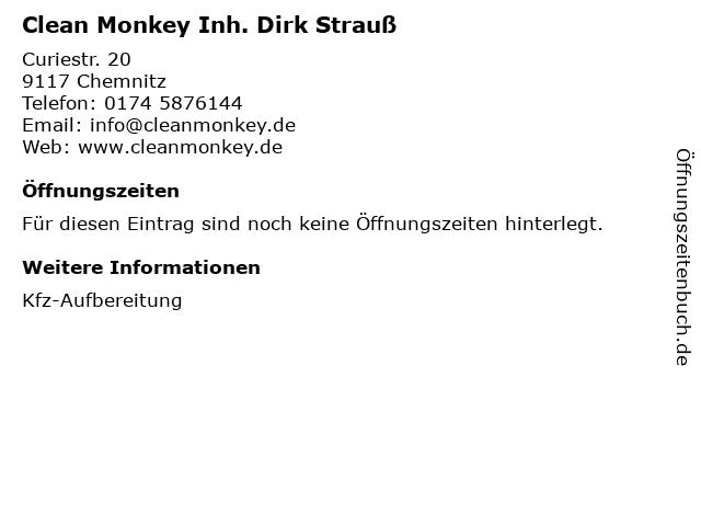 Clean Monkey Inh. Dirk Strauß in Chemnitz: Adresse und Öffnungszeiten