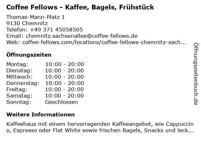 Coffee Fellows GmbH in Chemnitz: Adresse und Öffnungszeiten