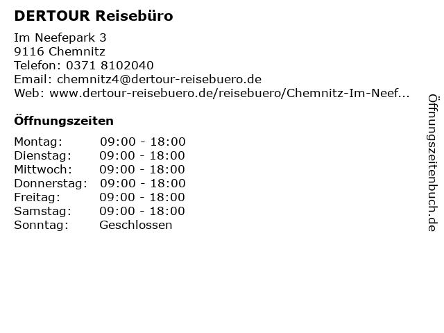 DER Deutsches Reisebüro in Chemnitz: Adresse und Öffnungszeiten