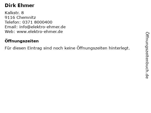 Dirk Ehmer in Chemnitz: Adresse und Öffnungszeiten