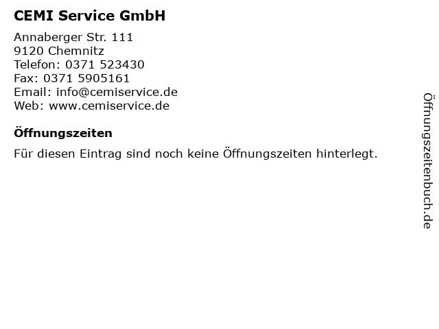 ERMO-CEMI Handels- und Beratungsgesellschaft mbH in Chemnitz: Adresse und Öffnungszeiten