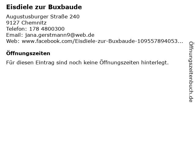 Eisdiele zur Buxbaude in Chemnitz: Adresse und Öffnungszeiten