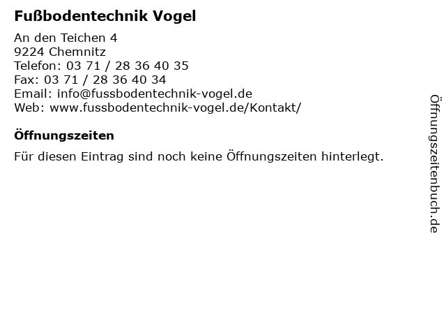 Fußbodentechnik Vogel in Chemnitz: Adresse und Öffnungszeiten