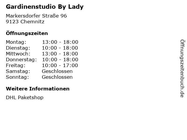 Gardinenstudio By Lady - DHL Paketshop in Chemnitz: Adresse und Öffnungszeiten