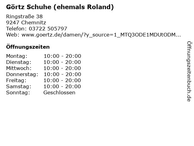 ROLAND Schuhe in Chemnitz: Adresse und Öffnungszeiten