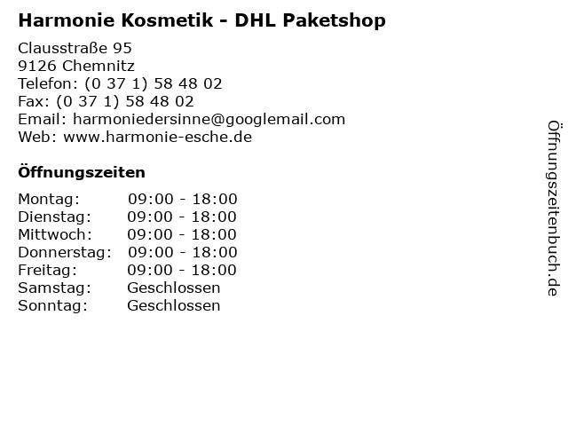 Harmonie Kosmetik - DHL Paketshop in Chemnitz: Adresse und Öffnungszeiten