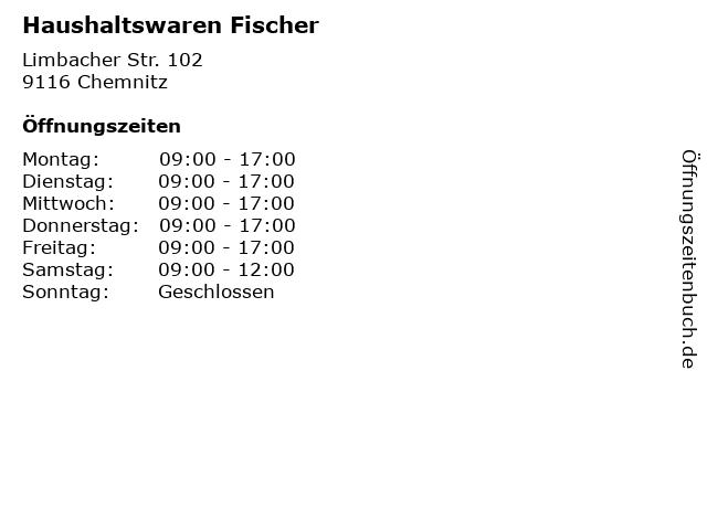 Haushaltswaren Fischer in Chemnitz: Adresse und Öffnungszeiten