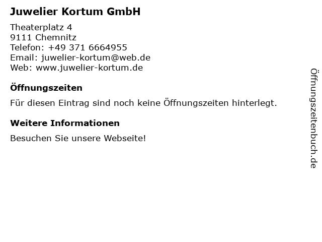 Juwelier Kortum in Chemnitz: Adresse und Öffnungszeiten