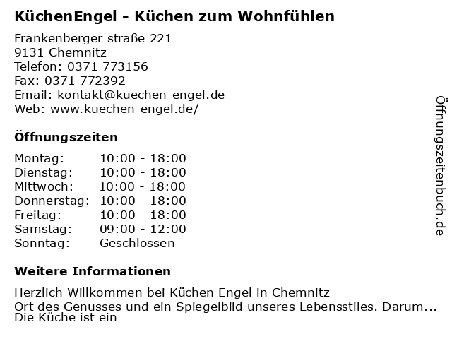 ᐅ Offnungszeiten Kuchenengel Otto Torner Str 11 In Chemnitz