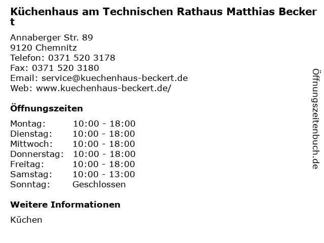ᐅ Offnungszeiten Kuchenhaus Am Technischen Rathaus Matthias