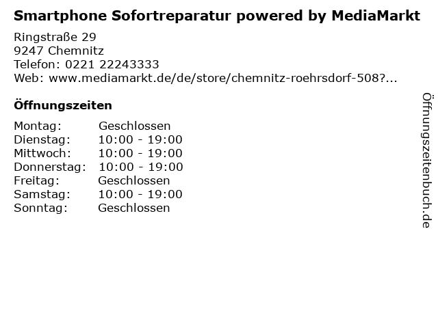 Media Markt TV-HiFi-Elektro GmbH in Chemnitz: Adresse und Öffnungszeiten
