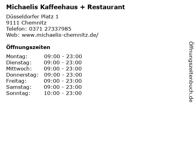 Michaelis Kaffeehaus + Restaurant in Chemnitz: Adresse und Öffnungszeiten