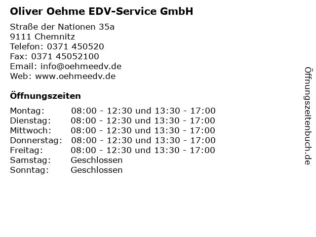 Oliver Oehme EDV-Service GmbH in Chemnitz: Adresse und Öffnungszeiten