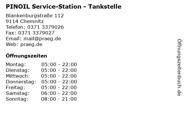 PINOIL Service-Station - Tankstelle in Chemnitz: Adresse und Öffnungszeiten
