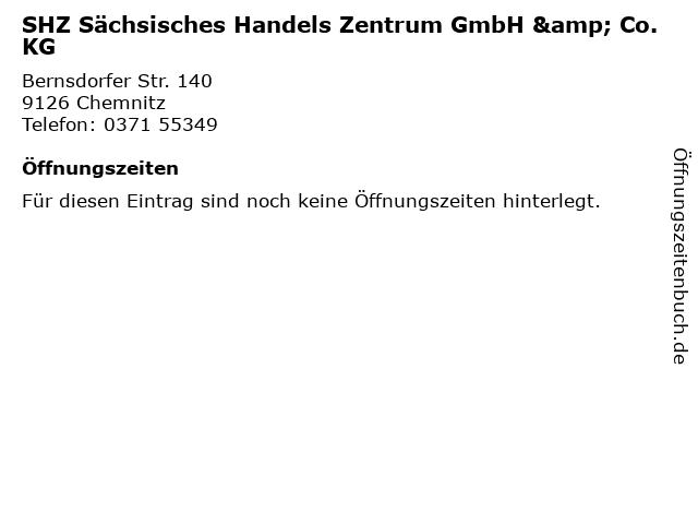 SHZ Sächsisches Handels Zentrum GmbH & Co. KG in Chemnitz: Adresse und Öffnungszeiten