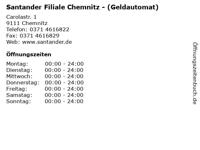 Santander Filiale Chemnitz - (Geldautomat) in Chemnitz: Adresse und Öffnungszeiten