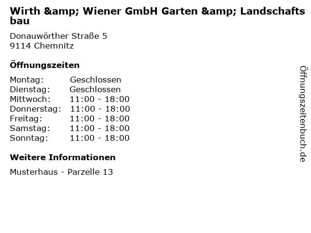 ᐅ Offnungszeiten Wirth Wiener Gmbh Garten Landschaftsbau