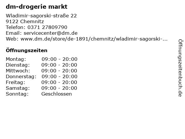 dm-drogerie markt in Chemnitz: Adresse und Öffnungszeiten