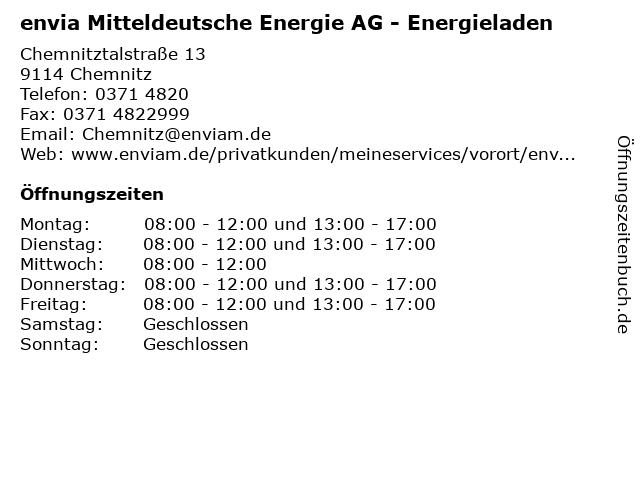 envia Mitteldeutsche Energie AG - Energieladen in Chemnitz: Adresse und Öffnungszeiten