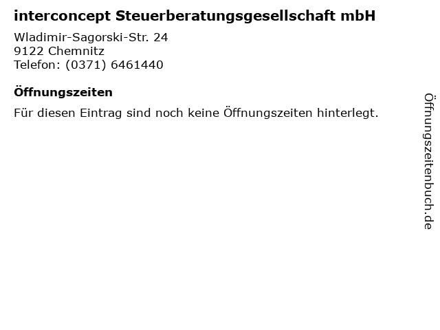interconcept Steuerberatungsgesellschaft mbH in Chemnitz: Adresse und Öffnungszeiten