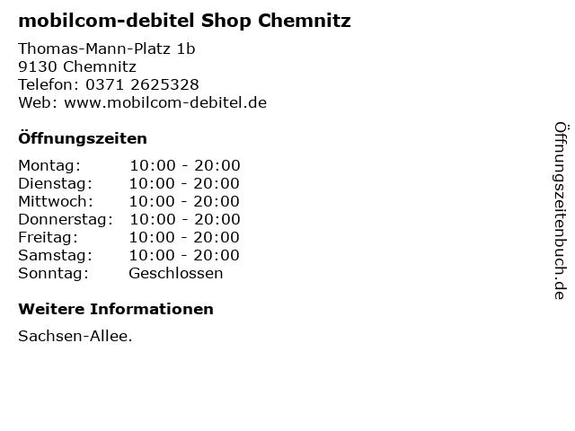 mobilcom-debitel Shop Chemnitz in Chemnitz: Adresse und Öffnungszeiten