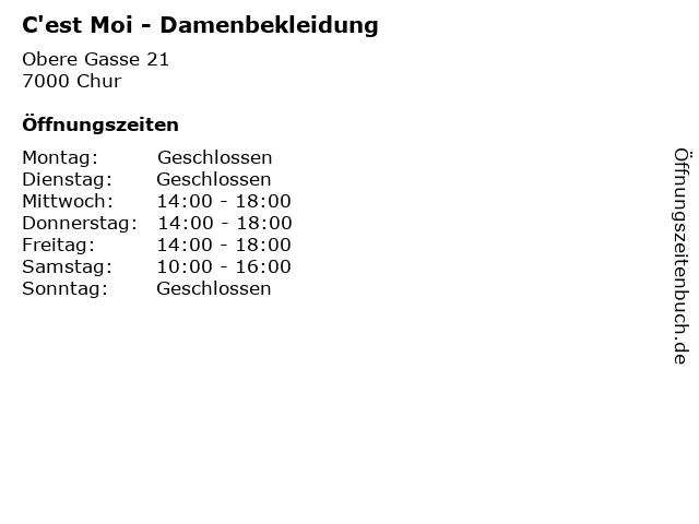 C'est Moi - Damenbekleidung in Chur: Adresse und Öffnungszeiten