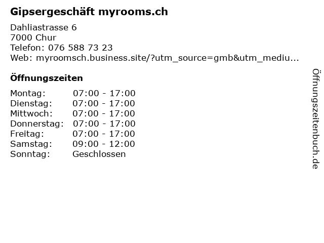 Gipsergeschäft myrooms.ch in Chur: Adresse und Öffnungszeiten