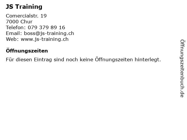 JS Training in Chur: Adresse und Öffnungszeiten