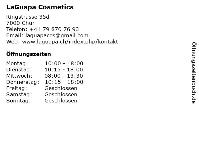 LaGuapa Cosmetics in Chur: Adresse und Öffnungszeiten