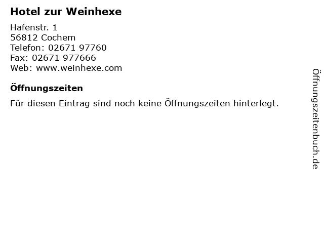 Hotel zur Weinhexe in Cochem: Adresse und Öffnungszeiten
