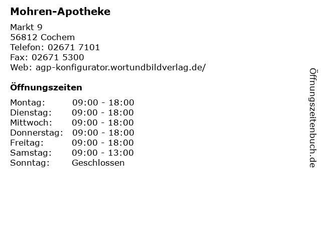 Mohren-Apotheke in Cochem: Adresse und Öffnungszeiten