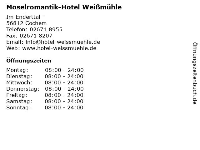 Moselromantik-Hotel Weißmühle in Cochem: Adresse und Öffnungszeiten