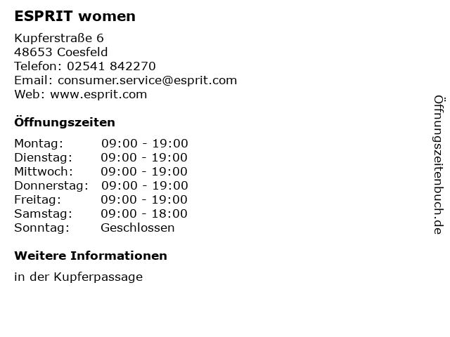 ESPRIT women in Coesfeld: Adresse und Öffnungszeiten