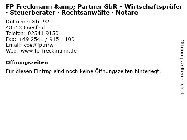 Georg Schulze Entrup Steuerberater in Coesfeld: Adresse und Öffnungszeiten