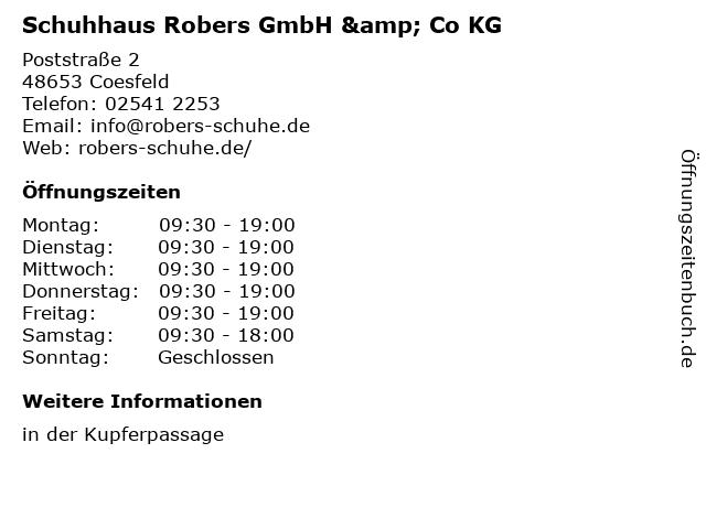 Schuhhaus Robers GmbH & Co KG in Coesfeld: Adresse und Öffnungszeiten
