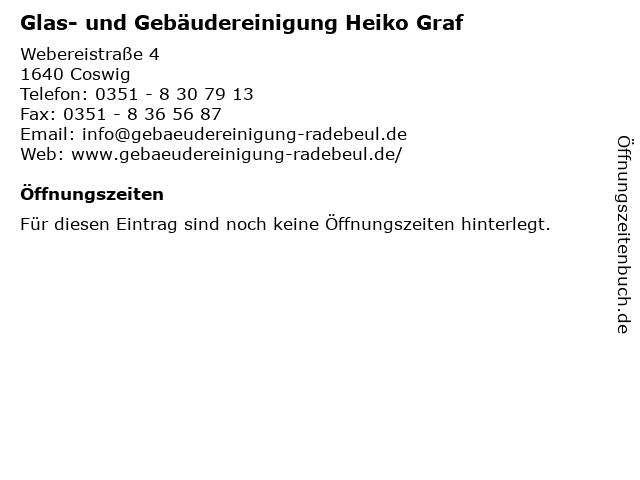 Glas- und Gebäudereinigung Heiko Graf in Coswig: Adresse und Öffnungszeiten
