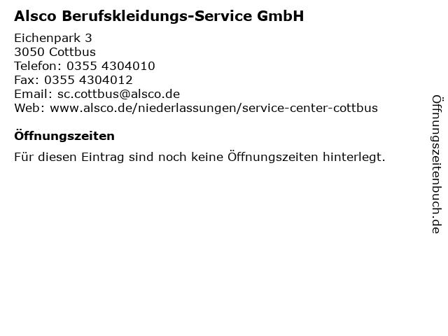 Alsco Berufskleidungs-Service GmbH in Cottbus: Adresse und Öffnungszeiten