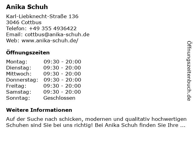 Deichmann Schuhe in Cottbus: Adresse und Öffnungszeiten