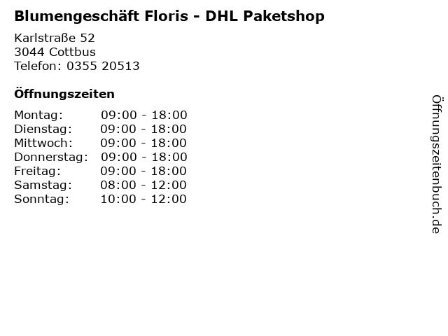 Blumengeschäft Floris - DHL Paketshop in Cottbus: Adresse und Öffnungszeiten