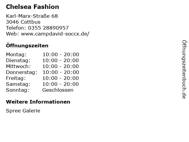 Chelsea Fashion in Cottbus: Adresse und Öffnungszeiten