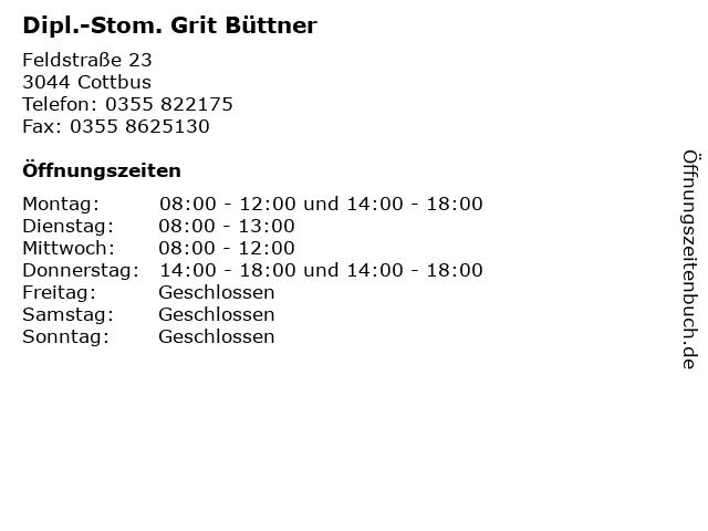 Dipl.-Stom. Grit Büttner in Cottbus: Adresse und Öffnungszeiten
