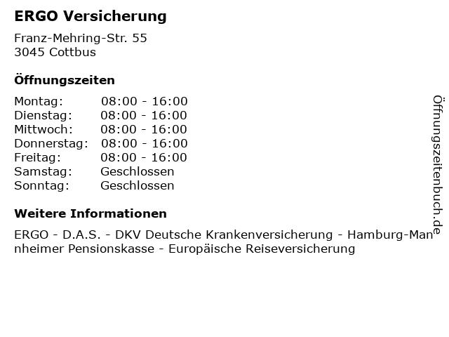 ERGO Versicherung in Cottbus: Adresse und Öffnungszeiten