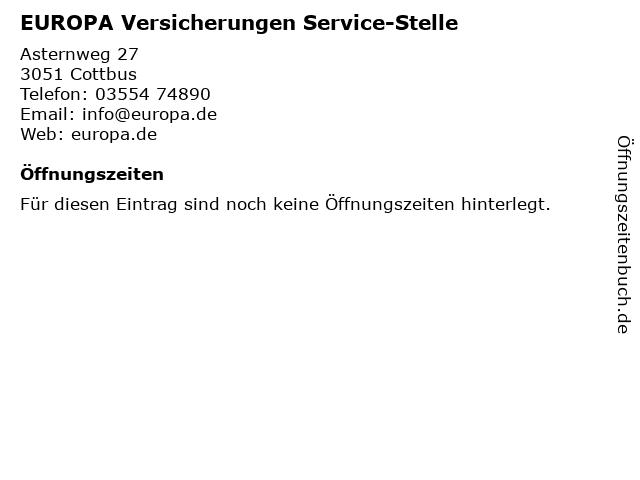 EUROPA Versicherungen Service-Stelle in Cottbus: Adresse und Öffnungszeiten