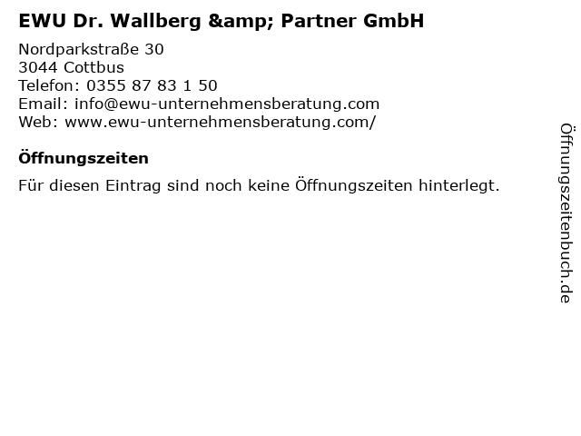 EWU Dr. Wallberg & Partner GmbH in Cottbus: Adresse und Öffnungszeiten