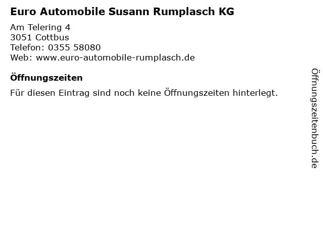 Euro Automobile Susann Rumplasch KG in Cottbus: Adresse und Öffnungszeiten