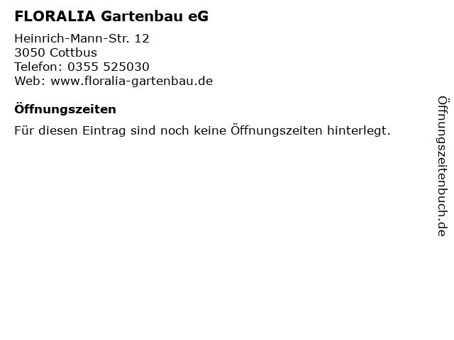 FLORALIA Gartenbau eG in Cottbus: Adresse und Öffnungszeiten