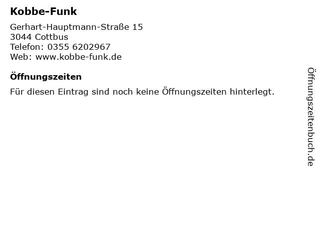Kobbe-Funk in Cottbus: Adresse und Öffnungszeiten