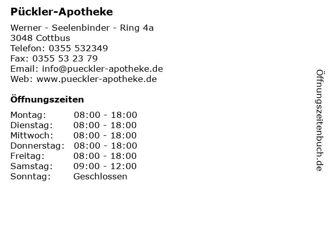 Pückler-Apotheke in Cottbus: Adresse und Öffnungszeiten