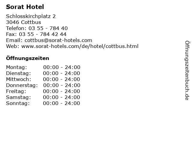 Sorat Hotel in Cottbus: Adresse und Öffnungszeiten