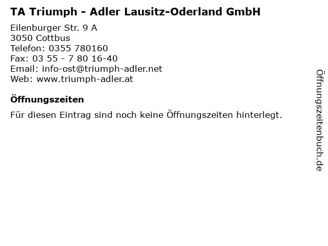 TA Triumph - Adler Lausitz-Oderland GmbH in Cottbus: Adresse und Öffnungszeiten